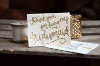 Your New Friend Sam Thank You Bridesmaid Card
