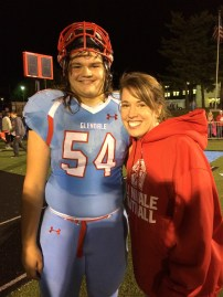 Glendale Falcons Center Jake with Cousin Sam