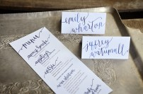Rehearsal Dinner Menu with Matching Calligraphy Tent Cards