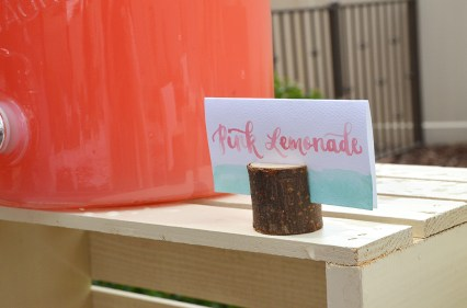 Shabby Chic Tribal Baby Shower Drink Table Watercolor placecard