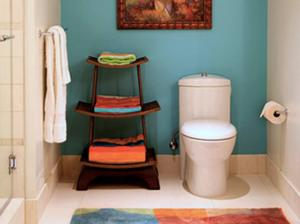 turquoise and orange bath