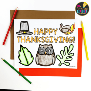 thanksgiving themed coloring page