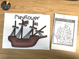 ship poster with math challenge