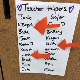 teacher helpers student chart