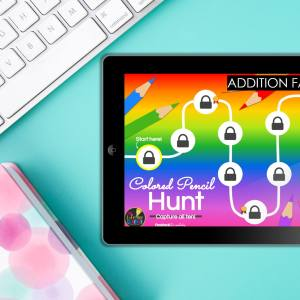 math facts game ipad with blue background
