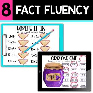 back to school resources fact fluency