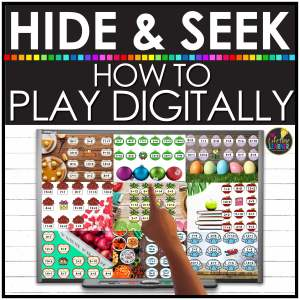 Picture of digital hide and seek games with words of how to play digitally