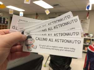 admission tickets for a space classroom transformation