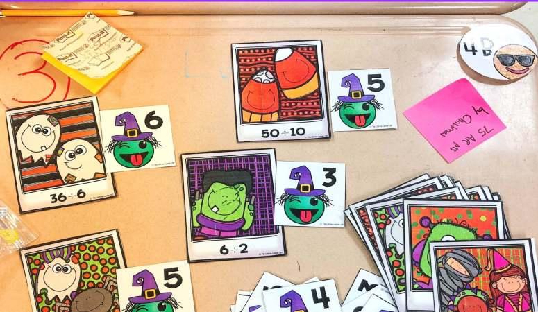 Halloween Math Activities for Elementary
