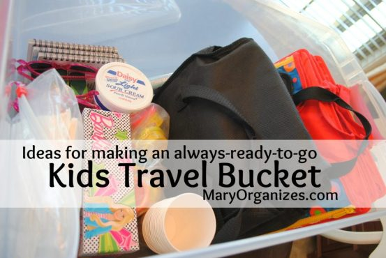 Kids Travel Bucket
