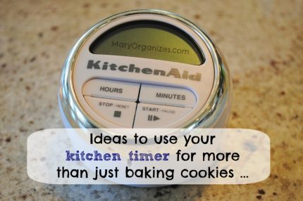 Ideas to use your kitchen timer for more than just baking cookies