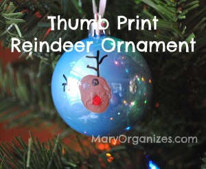 Reindeer Thumb Print Ornament