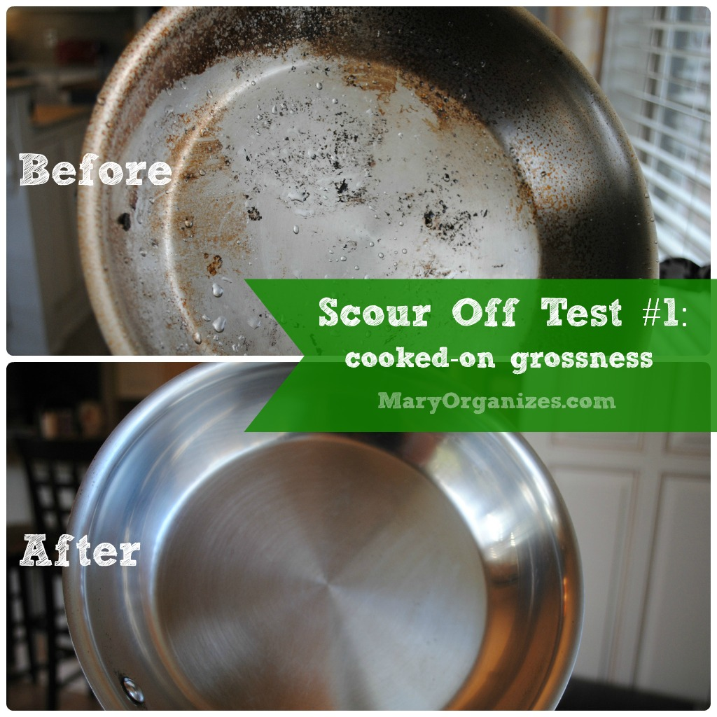 Scour Off Test #1: sautepan