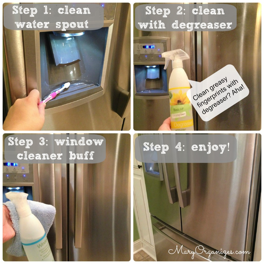 How to clean a stainless steel fridge