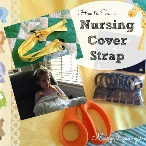 How To Sew A Nursing Cover Strap