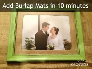 Add burlap matting in 10 minutes
