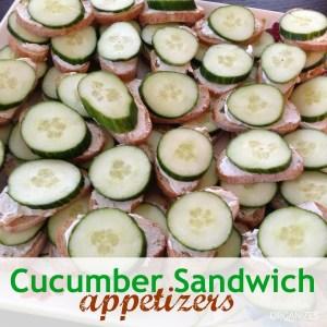 Cucumber Sandwich Appetizer {Recipe!}