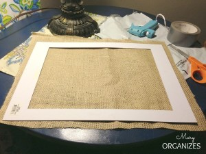 Easy steps to add burlap to your frame matting