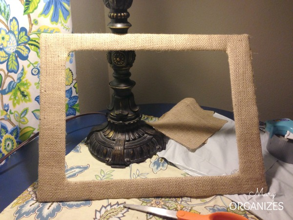Ta Da - A burlap covered frame matting in less than 10 minutes