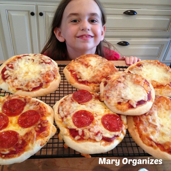Mini-pizzas ready to freeze or eat