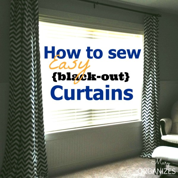 How To Sew EASY {Black-Out} Curtains