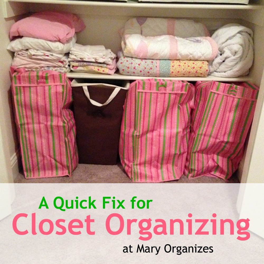 A Quick Fix for Closet Organizing