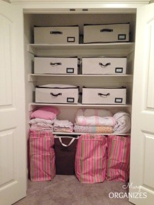 Quick Fix: Closet Organizing for Blanket & Pillow Storage