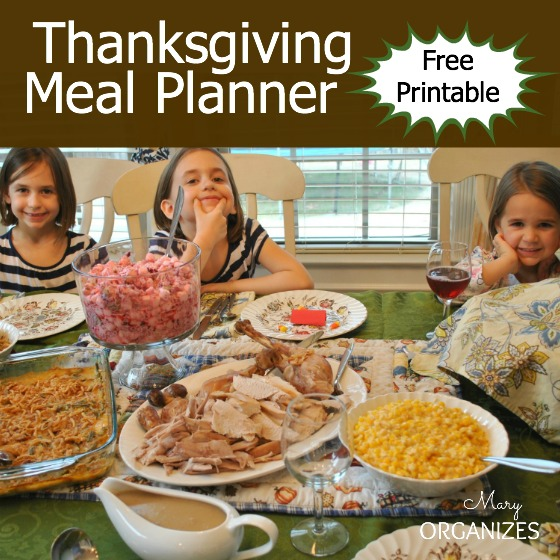 Thanksgiving Meal Planner with Free Printable