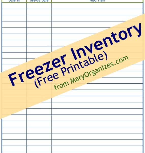 Freezer & Pantry FREE Printable