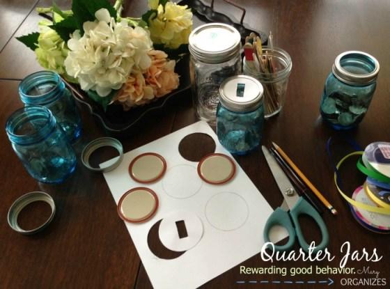 Quarter Jars - Rewarding good behavior --- very easy to make