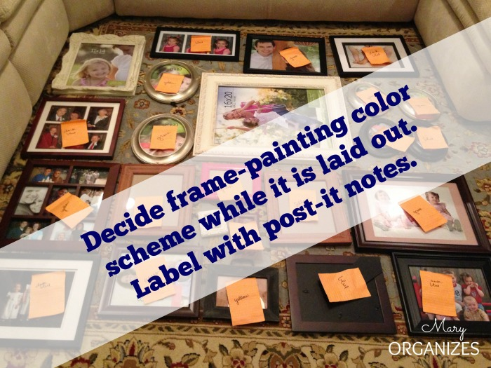 label paint colors with post-it notes