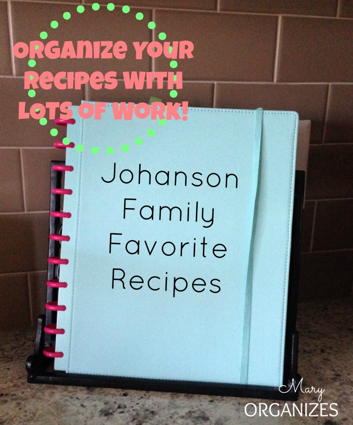 Organize Your Recipes With Lots of Work