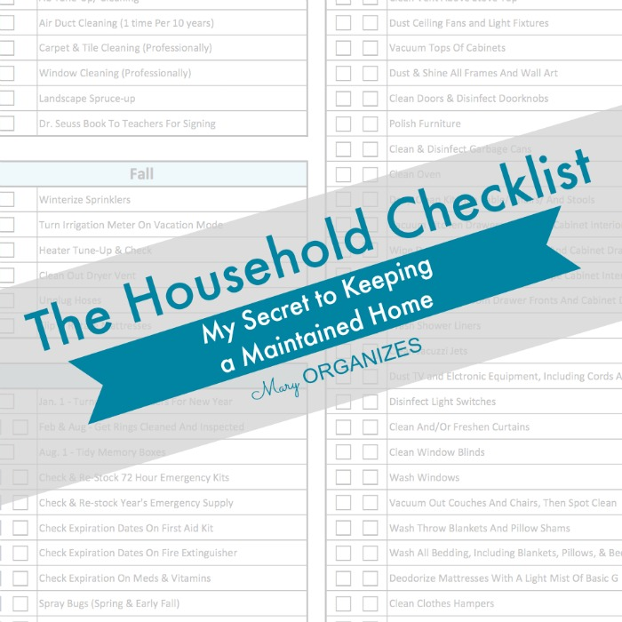 The Household Checklist - My Secret to Keeping a Maintained Home