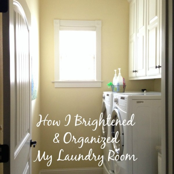 Brighten & Organize My Laundry Room