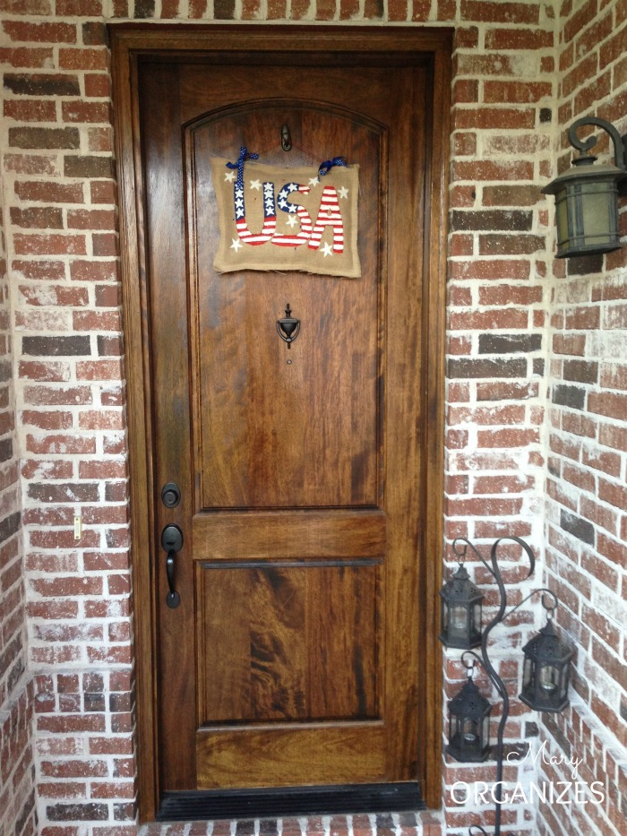 USA Patriotic Door Hanging
