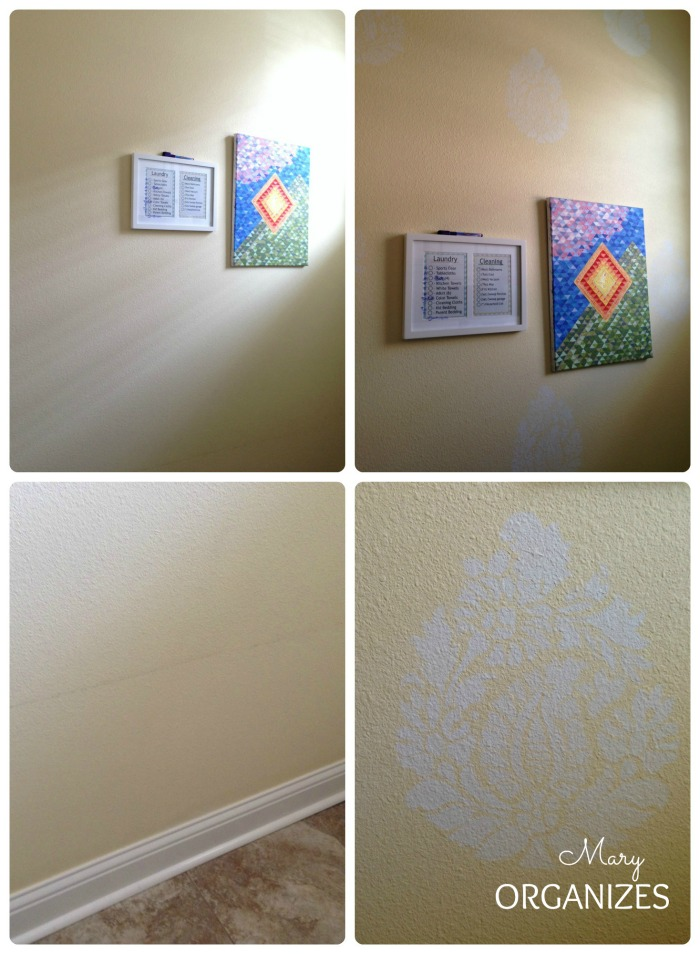 touch-up paint and add a little stencil decor