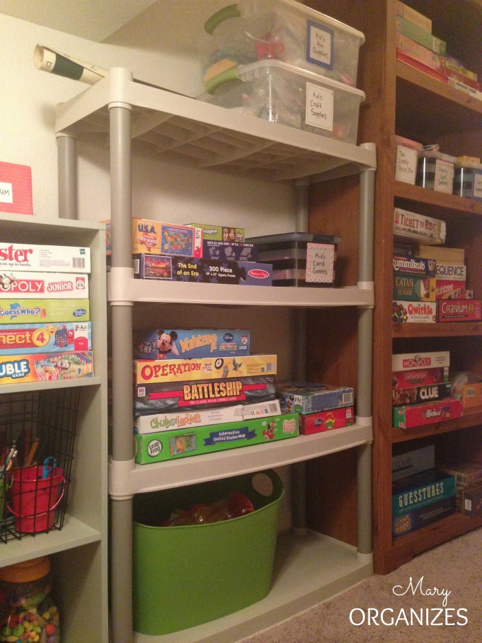 AFTER - The newly organized shelves in the closet under the stairs