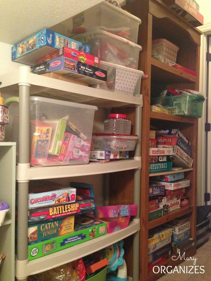 BEFORE - the shelves