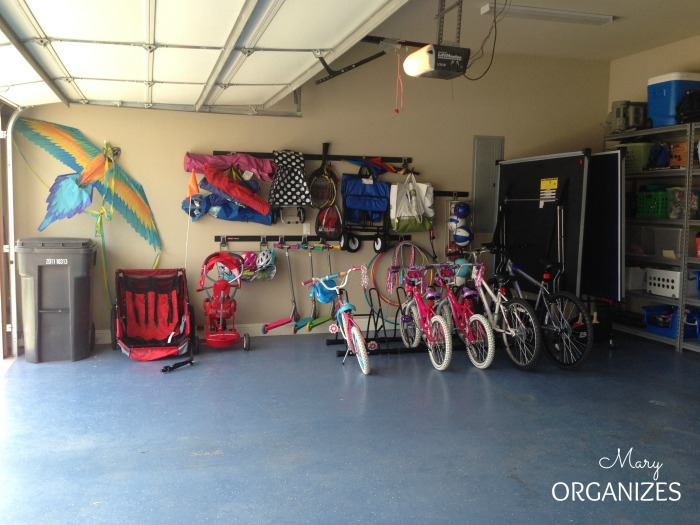 Maintain an Organized Garage - This side of the garage sees a lot of action