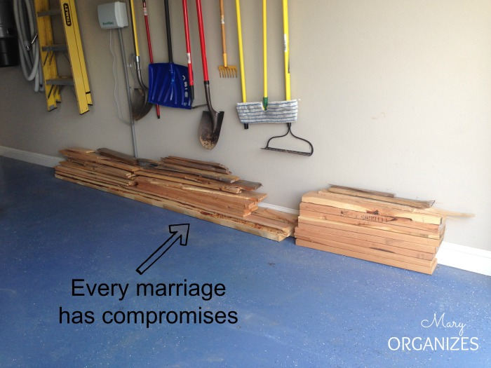 Maintain an Organized Garage - every marriage has compromises