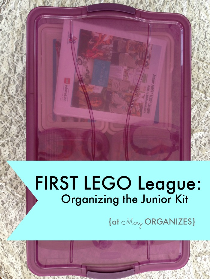 US FIRST LEGO League - Organizing the Junior Kit