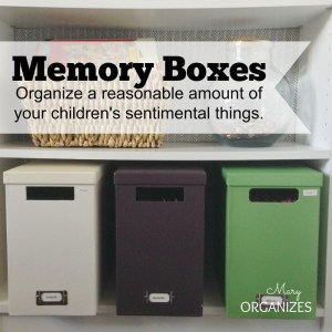 Saving Little Johnny's Artwork Forever {Organizing Memory Boxes}