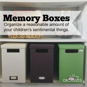 Saving Little Johnny's Artwork Forever {Organizing Memory Boxes}