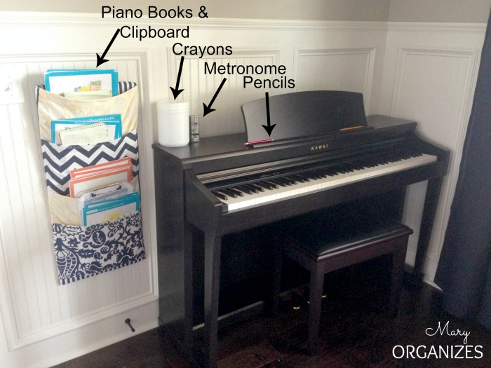 Organizing the piano area for better lessons