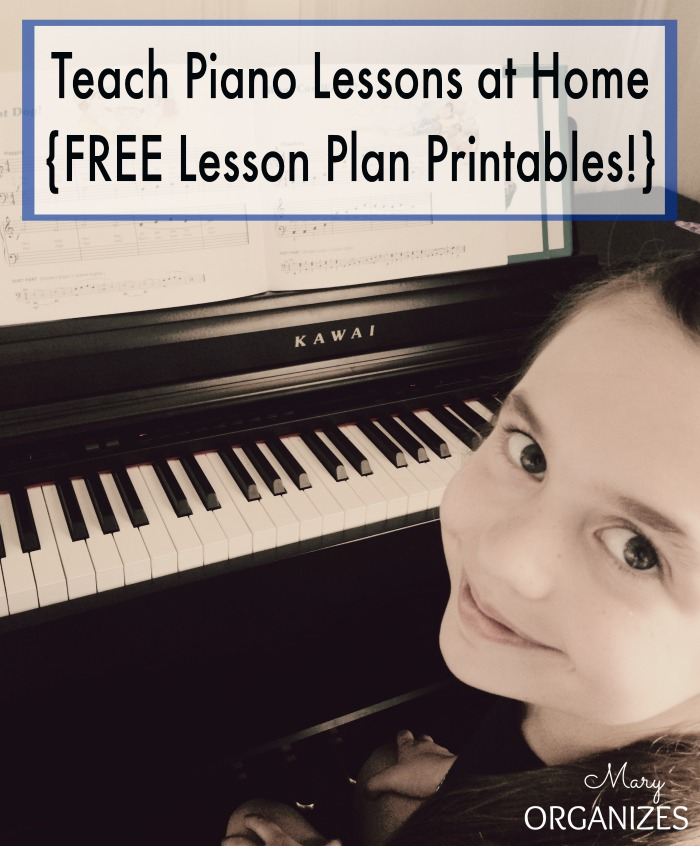 Teach Piano Lessons at Home with FREE Lesson Plan Printables