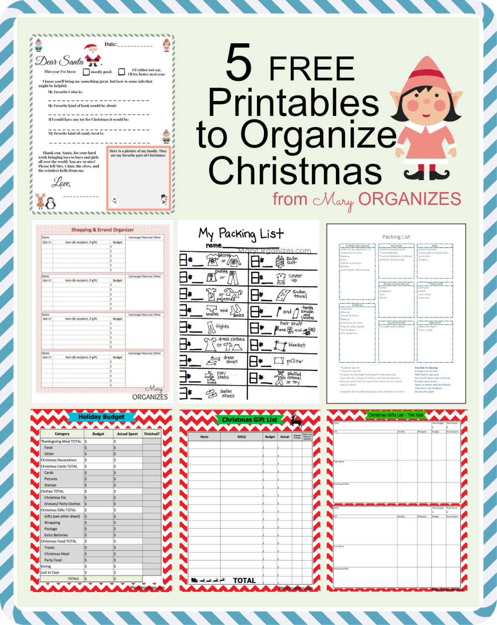 It's just a picture of Impertinent Free Printable Organizer