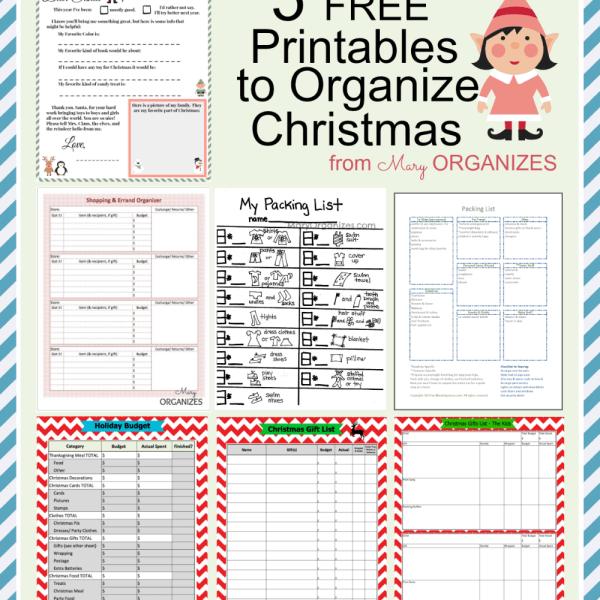 5 FREE Printables to Organize Christmas