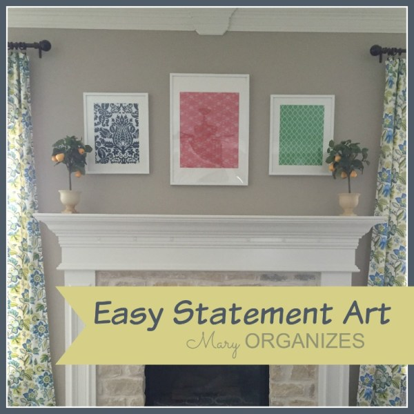 Easy Statement Art - Framed Fabric