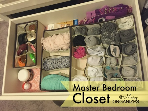 MBR Closet - sock belt and scarf drawer