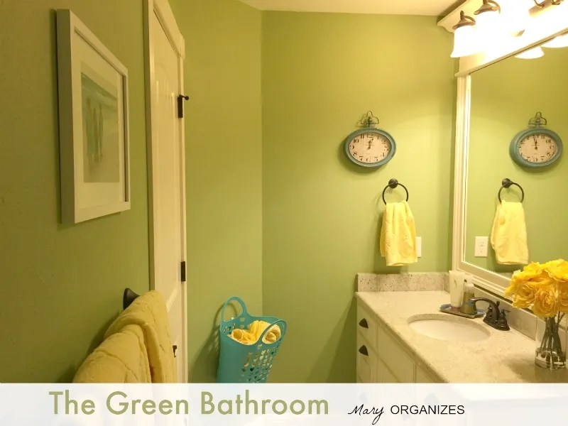 The Green Bathroom from Mary Organizes